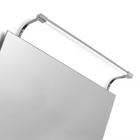 Настенный светильник Mantra Sisley 5086, IP44, матовый хром, белый, металл, пластик