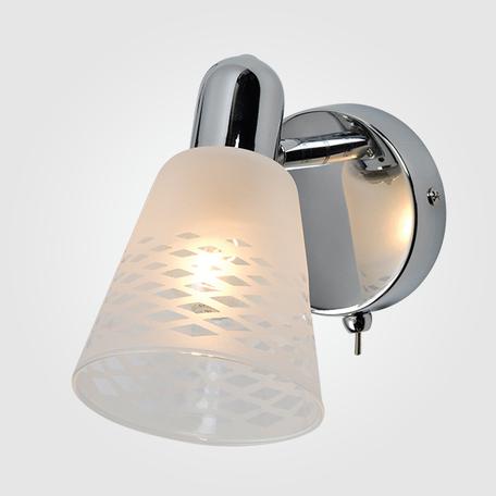 Настенный светильник с регулировкой направления света Eurosvet Organic 20053/1 хром, 1xE14x40W, хром, белый, металл, стекло