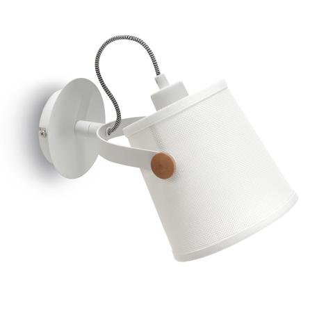 Настенный светильник с регулировкой направления света Mantra Nordica II 4924, белый, коричневый, дерево, металл, текстиль