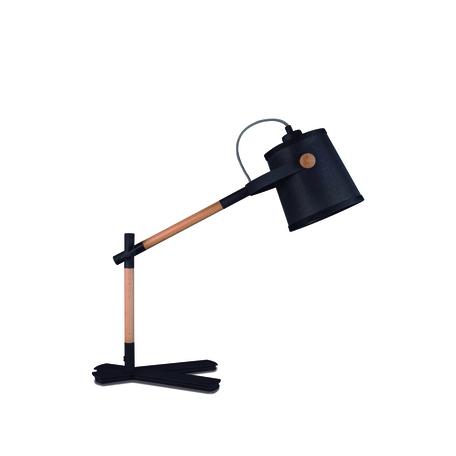 Настольная лампа Mantra Nordica II 4923, коричневый, черный, дерево, металл, текстиль