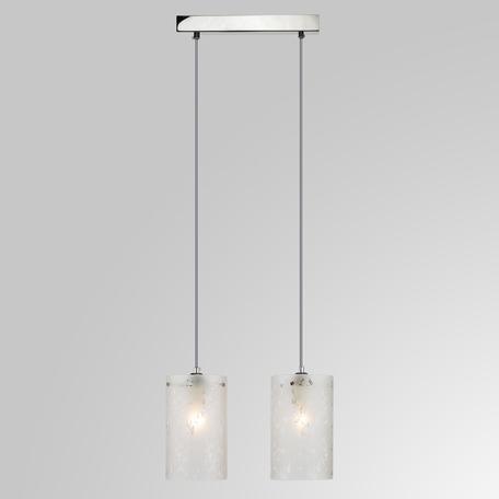 Подвесной светильник Eurosvet Melia 1129/2 хром, 2xE27x60W, хром, белый, металл, стекло