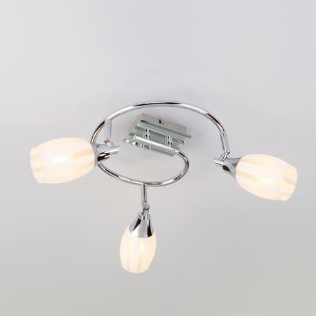 Потолочная люстра Eurosvet Meridiane 20130/3 хром, 3xE14x40W, хром, белый, металл, стекло