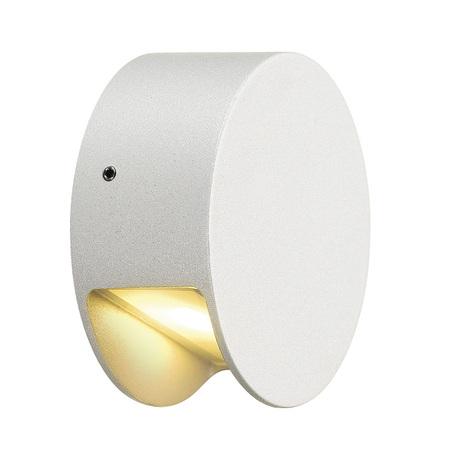 Настенный светодиодный светильник SLV PEMA® ROUND LED 231010, IP44, LED 3000K, белый, металл