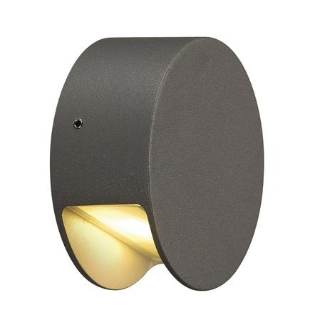 Настенный светодиодный светильник SLV PEMA® ROUND LED 231015, IP44, LED 3000K, серый, металл