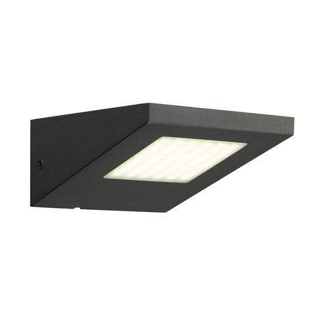 Настенный светодиодный светильник SLV IPERI WL 231315, IP44, LED 4000K, серый, металл