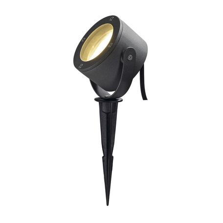 Прожектор с колышком SLV SITRA 360 SPIKE 231525, IP44, 1xGX53x9W, серый