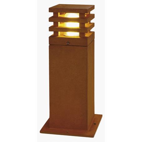 Садово-парковый светильник SLV RUSTY® SQUARE 40 229420, IP55, 1xE27x11W, коричневый, металл