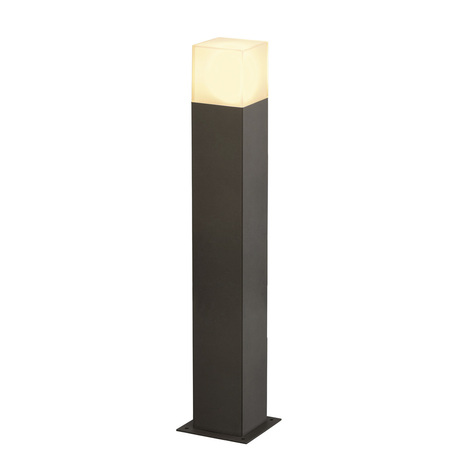 Садово-парковый светильник SLV GRAFIT 60 POLE 231225, IP44, 1xE27x11W, серый, белый