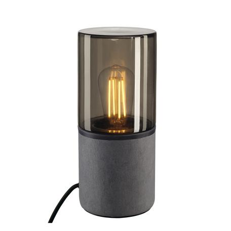 Садовый светильник SLV LISENNE TL 231360, IP44, 1xE27x23W, серый, дымчатый