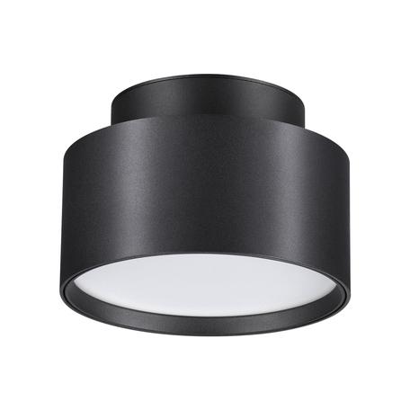 Потолочный светодиодный светильник Novotech Over Oro 358354, LED 24W 4000K 1920lm, черный, черно-белый, металл, металл с пластиком