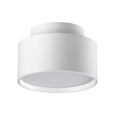 Потолочный светодиодный светильник Novotech Over Oro 358355, LED 24W 4000K 1920lm, белый, металл, металл с пластиком