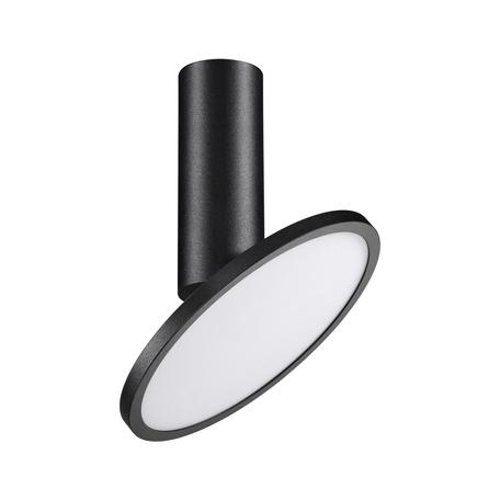 Потолочный светодиодный светильник с регулировкой направления света Novotech Over Hat 358346, LED 18W 4000K 1700lm, черный, черно-белый, металл, металл с пластиком