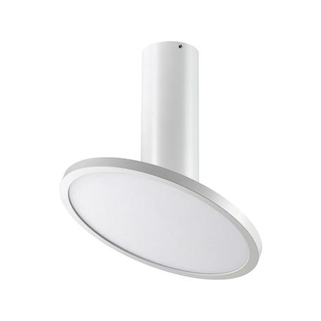 Потолочный светодиодный светильник с регулировкой направления света Novotech Over Hat 358347, LED 18W 4000K 1700lm, белый, металл, металл с пластиком