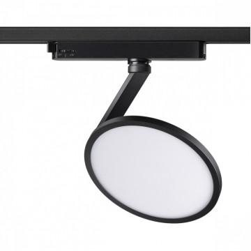 Светодиодный светильник с регулировкой направления света для шинной системы Novotech Hat 358348, LED 18W 4000K 1700lm, черный, черно-белый, металл, металл с пластиком
