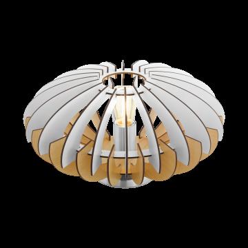 Настольная лампа Eglo Sotos 96965, 1xE27x60W, никель, белый, коричневый, металл, дерево