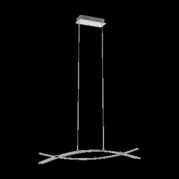 Подвесной светодиодный светильник Eglo Nevado 96331, LED 27W 3000K 3000lm, хром, металл, металл с пластиком, пластик