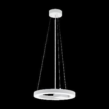 Подвесной светодиодный светильник с пультом ДУ Eglo Alvendre 96656, LED 34W 2700-6500K 3720lm, белый, металл, пластик