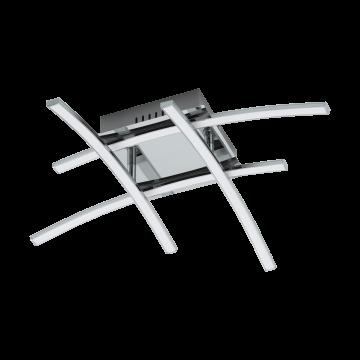 Потолочная светодиодная люстра Eglo Nevado 96305, хром, белый, металл, пластик
