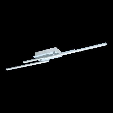 Потолочный светодиодный светильник Eglo Parri 96316, LED 18W 3000K 1950lm, хром, металл, металл с пластиком, пластик