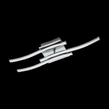 Потолочный светодиодный светильник Eglo Valmora 96326, LED 15W 3000K 1410lm, хром, металл, металл с пластиком, пластик