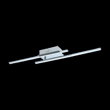 Потолочный светодиодный светильник Eglo Parri 96315, LED 12W 3000K 1300lm, хром, металл, металл с пластиком, пластик