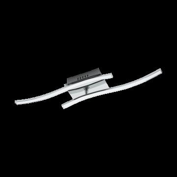 Потолочный светодиодный светильник Eglo Valmora 96325, LED 10W 3000K 940lm, хром, металл, металл с пластиком, пластик