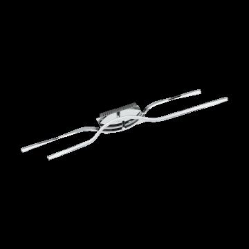 Потолочный светодиодный светильник Eglo Nevado 96328, хром, белый, металл, пластик