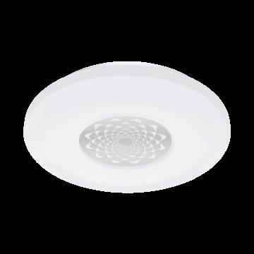 Потолочный светодиодный светильник с пультом ДУ Eglo Capasso-C 96821, белый, хром, металл, пластик
