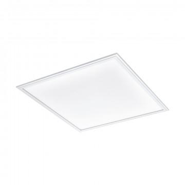 Светодиодная панель для встраиваемого или накладного монтажа с пультом ДУ Eglo Connect Salobrena-C 96663, LED 34W 2700-6500K + RGB 4300lm CRI>80, белый, металл с пластиком, пластик