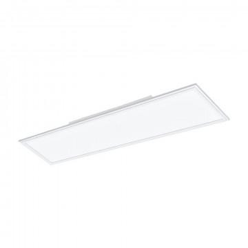 Светодиодная панель для встраиваемого или накладного монтажа с пультом ДУ Eglo Connect Salobrena-C 96664, LED 34W 2700-6500K + RGB 4300lm CRI>80, белый, металл с пластиком, пластик