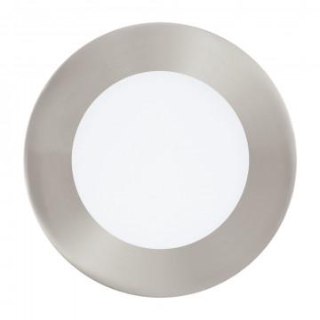 Светодиодная панель с пультом ДУ Eglo Connect Fueva-C 32753, LED 5,4W 2700-6500K + RGB 700lm CRI>80, никель, металл с пластиком, пластик