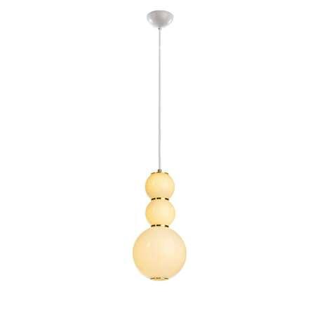 Подвесной светодиодный светильник Loft It Pearls 5045-D, LED, белый, золото, металл, стекло