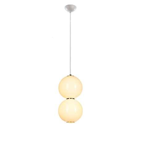 Подвесной светодиодный светильник Loft It Pearls 5045-E, LED, белый, золото, металл, стекло
