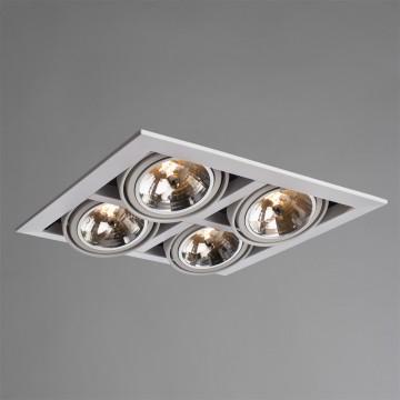 Встраиваемый светильник Arte Lamp Cardani Grande A5935PL-4WH, 4xG53AR111x50W, белый, металл