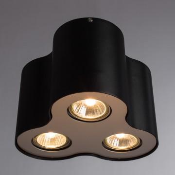 Потолочный светильник Arte Lamp Instyle Falcon A5633PL-3BK, 3xGU10x50W, черный, металл