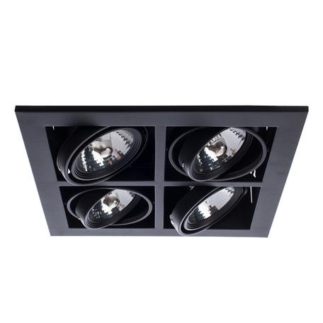 Встраиваемый светильник Arte Lamp Cardani Medio A5930PL-4BK, 4xG53AR111x50W, черный, металл
