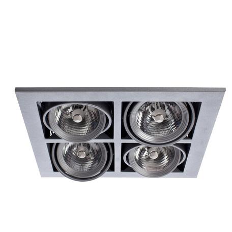 Встраиваемый светильник Arte Lamp Cardani Medio A5930PL-4SI, 4xG53AR111x50W, серебро, металл