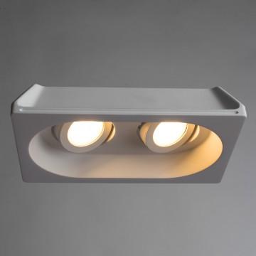 Встраиваемый светильник Arte Lamp Instyle Invisible A9215PL-2WH, 2xGU10x35W, белый, под покраску, гипс