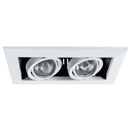 Встраиваемый светильник Arte Lamp Instyle Cardani Piccolo A5941PL-2WH, 2xGU10x50W, черный, белый, черно-белый, металл