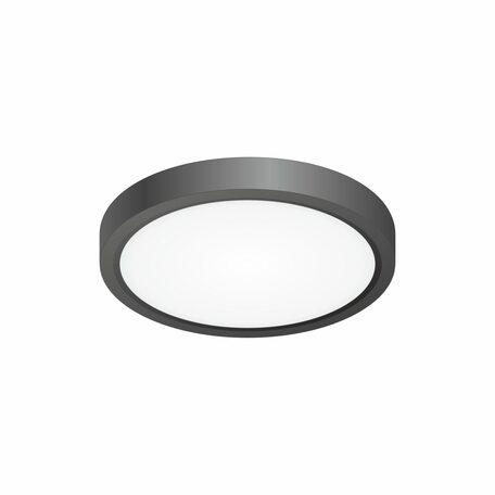 Потолочный светодиодный светильник Citilux Бейсик CL738121N, IP40, LED 12W 4000K 1400lm, черный, пластик
