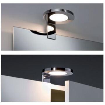 Мебельный светодиодный светильник Paulmann Galeria Ring 99086, IP44, LED 3,2W, хром, металл