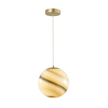 Подвесной светильник Lumion Moderni Misty 4466/1, 1xE27x60W, матовое золото, коричневый, металл, стекло