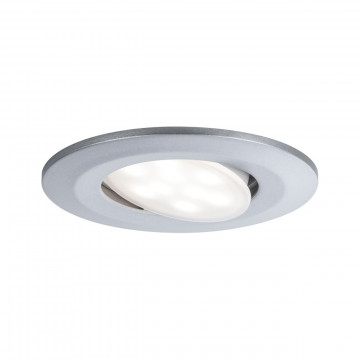 Встраиваемый светодиодный светильник Paulmann Calla 99928, IP65, LED 6W, матовый хром, пластик