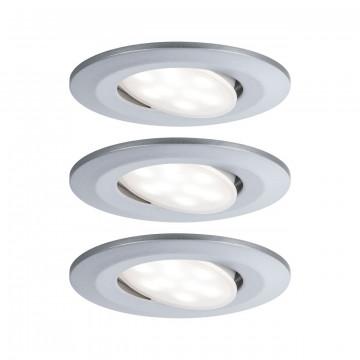 Встраиваемый светодиодный светильник Paulmann Calla 99929, IP65, LED 6W, матовый хром, пластик