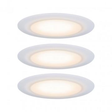 Встраиваемый светодиодный светильник Paulmann Premium Suon 230V warm-dimmable 99942, IP44, LED 6,5W, белый, пластик