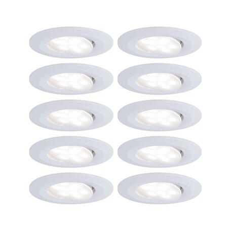 Встраиваемый светодиодный светильник Paulmann Calla 99924, IP65, LED 6,5W, белый, пластик