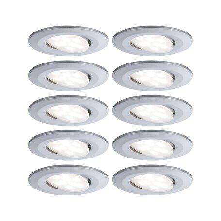 Встраиваемый светодиодный светильник Paulmann Calla 99925, IP65, LED 6,5W, матовый хром, пластик