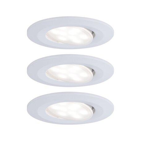 Встраиваемый светодиодный светильник Paulmann Calla 99931, IP65, LED 6,5W, белый, пластик