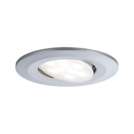 Встраиваемый светодиодный светильник Paulmann Calla 99932, IP65, LED 6,5W, матовый хром, пластик