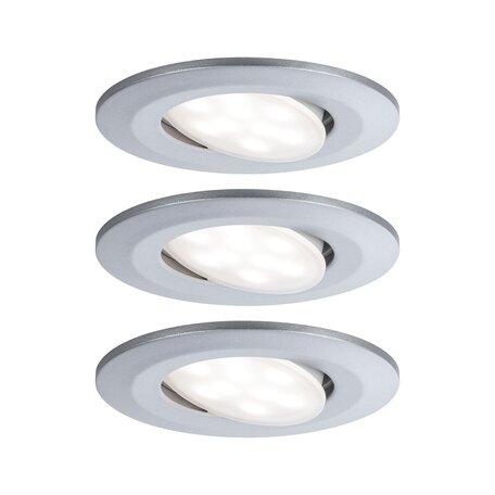 Встраиваемый светодиодный светильник Paulmann Calla 99933, IP65, LED 6,5W, матовый хром, пластик